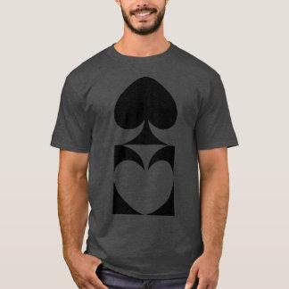 スペードの鏡反射のTシャツ Tシャツ