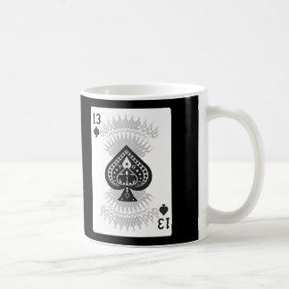 スペードの13: トランプのポーカーカード: コーヒー・マグ: ブラックジャック コーヒーマグカップ