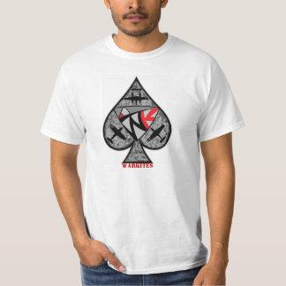 """スペードのWarkites """"エース"""" Tシャツ"""