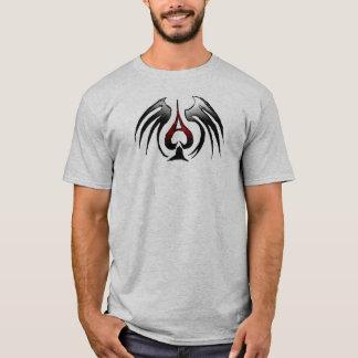 スペードカード翼のトランプのポーカーのエース Tシャツ