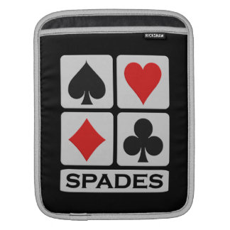 スペードプレーヤーのカスタムなiPad/ラップトップスリーブ iPadスリーブ