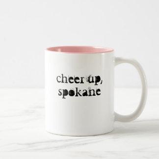 、スポケーンのマグ元気づけて下さい ツートーンマグカップ