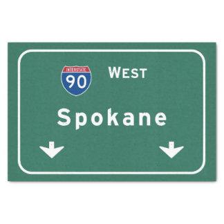 スポケーンワシントン州のwaの州間幹線道路の高速道路: 薄葉紙