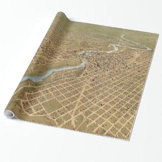 スポケーンワシントン州(1905年)のヴィンテージの絵解き地図 ラッピングペーパー