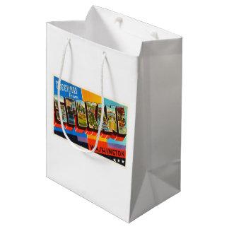 スポケーンワシントン州WAの古いヴィンテージ旅行記念品 ミディアムペーパーバッグ
