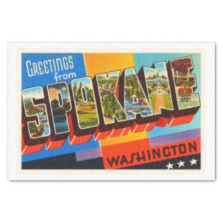 スポケーンワシントン州WAの古いヴィンテージ旅行記念品 薄葉紙