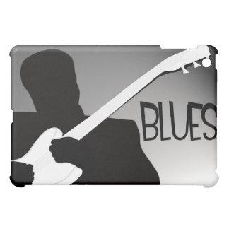 スポットライトが付いている青プレーヤーのシルエット iPad MINIカバー