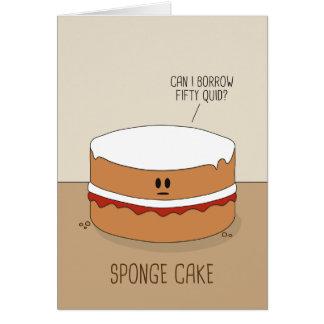 スポンジケーキの挨拶状 カード