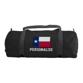 スポーツのための名前入りなテキサス州の旗のduffleの体育館のバッグ ジムバッグ