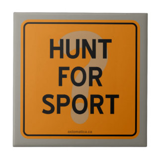 スポーツのための狩りか。 タイル