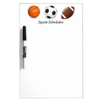 スポーツのゲームの練習のスケジュール ホワイトボード