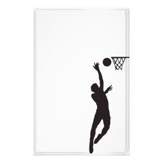 スポーツのシルエットのバスケットボールの文房具 便箋