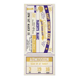 スポーツのチケットのベビーシャワーの招待状 カード
