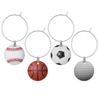 スポーツのテーマのスポーツ・ファンの大人のパーティーのアイディア ワインチャーム