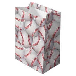 スポーツのテーマの野球の誕生日のギフトバッグ ミディアムペーパーバッグ
