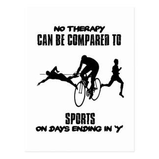 スポーツのデザインを向くこと ポストカード