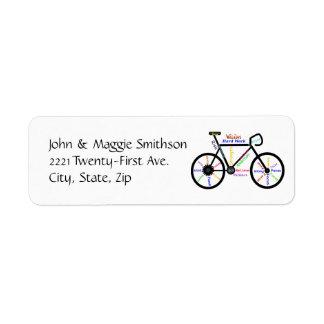 スポーツのバイクファンのための自転車のやる気を起こさせるな単語 ラベル