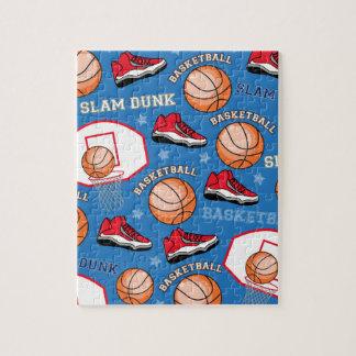 スポーツのバスケットボールの確実のおもしろいのアスリートパターン ジグソーパズル