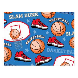 スポーツのバスケットボールの確実のおもしろいのアスリートパターン ポストカード