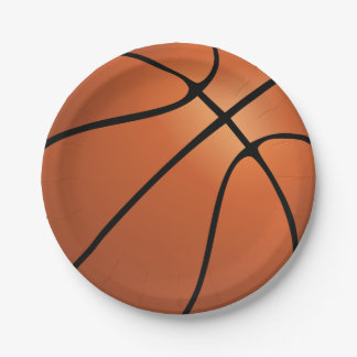 スポーツのバスケットボールの誕生会 ペーパープレート