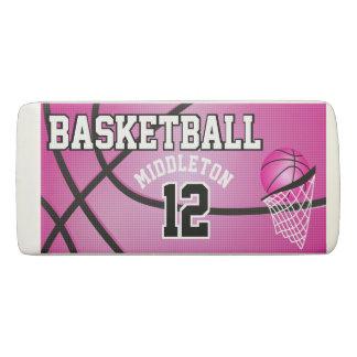 スポーツのバスケットボール| DIYの文字-ピンク 消しゴム