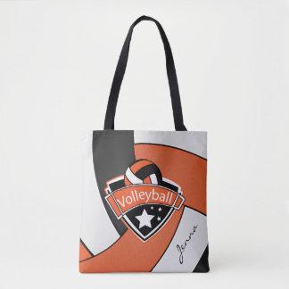 スポーツのバレーボール| DIYの文字-オレンジ トートバッグ