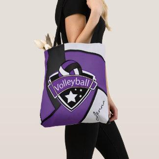 スポーツのバレーボール| DIYの文字-紫色 トートバッグ