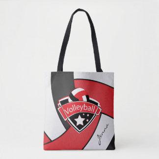 スポーツのバレーボール| DIYの文字-赤 トートバッグ