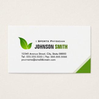 スポーツの医者-エレガントな緑の葉 名刺