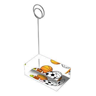 スポーツの宴会のテーブルカードホルダー