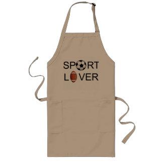 スポーツの恋人のエプロン ロングエプロン