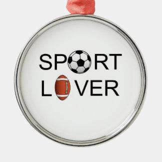 スポーツの恋人のオーナメント メタルオーナメント