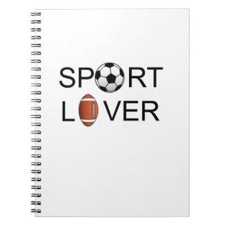 スポーツの恋人のノート ノートブック