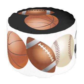 スポーツの球のバスケットボールの野球のフットボールのPouf プーフ