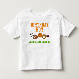 スポーツの誕生日のTシャツの幼児の子供の子供 トドラーTシャツ