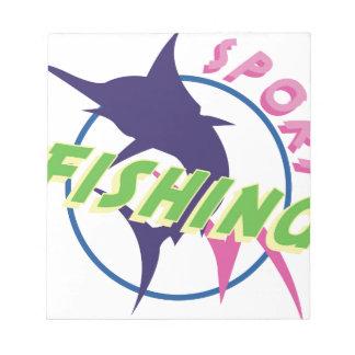スポーツの魚釣り ノートパッド