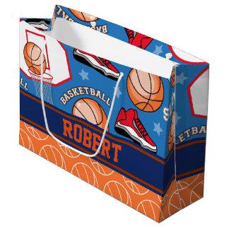 スポーツは一流のバスケットボールファンのおもしろいパターンを個人化します ラージペーパーバッグ