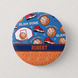 スポーツは一流のバスケットボールファンのおもしろいパターンを個人化します 缶バッジ