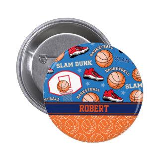 スポーツは一流のバスケットボールファンのおもしろいパターンを個人化します 5.7CM 丸型バッジ