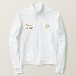 スポーツジャケットを通した贅沢なセルビアメンズジッパー 刺繍入りジャケット