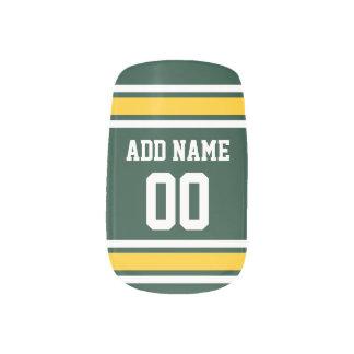 スポーツチームフットボールのジャージーの名前をカスタムする数 ネイルアート
