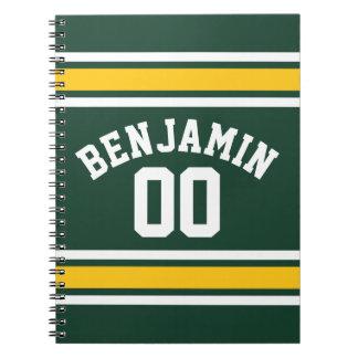 スポーツチームフットボールのジャージーの名前をカスタムする数 ノートブック