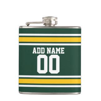 スポーツチームフットボールのジャージーの名前をカスタムする数 フラスク