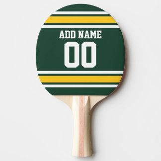 スポーツチームフットボールのジャージーの名前をカスタムする数 卓球ラケット