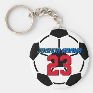 スポーツチーム白黒のサッカーボールKeychain キーホルダー