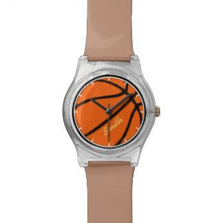 スポーツテーマの名前入りなバスケットボール 腕時計