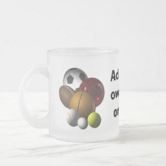 スポーツ用品の店のデザインによって曇らされるマグ フロストグラスマグカップ