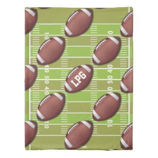 スポーツ界の名前入りなフットボールパターン 掛け布団カバー