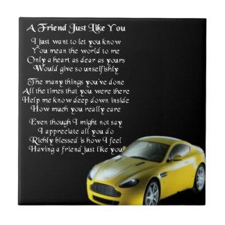 スポーツ・カーの友人の詩のタイル タイル