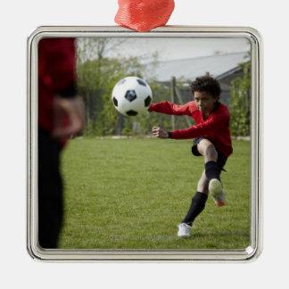 スポーツ、ライフスタイル、フットボール4 メタルオーナメント
